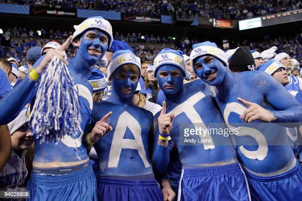 Kentucky Wildcats fans are pictured during the game against the North Carolina Tar Heels on December 5 2009 at Rupp Arena in Lexington Kentucky