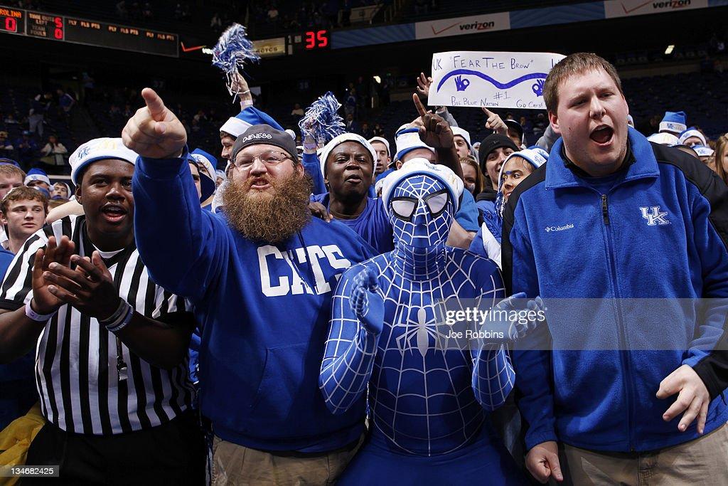 Kentucky Wildcats fans cheer during the game against the North Carolina Tar Heels at Rupp Arena on December 3, 2011 in Lexington, Kentucky. Kentucky won 73-72.