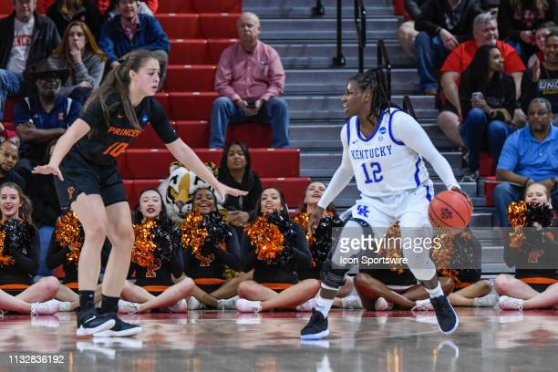 Kentucky Wildcats guard Amanda Paschal is defended by Princeton Tigers guard Grace Stone during the 2019 Div 1 Women's Championship First Round...