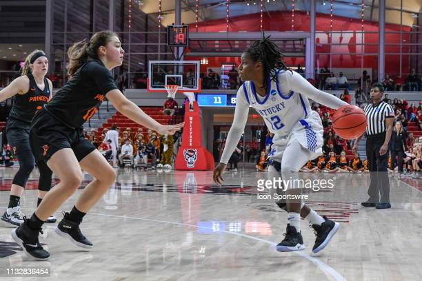 Kentucky Wildcats guard Amanda Paschal looks inside during the 2019 Div 1 Women's Championship First Round college basketball game between the...