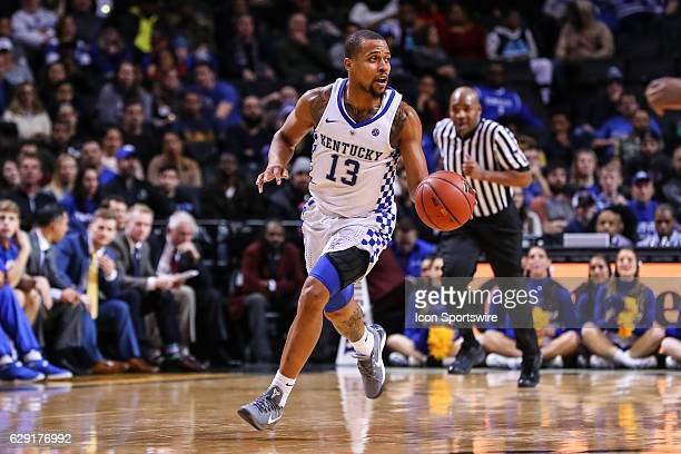 Kentucky Wildcats guard Isaiah Briscoe during the second half of the NCAA Men's basketball game between the Kentucky Wildcats and the Hofstra Pride...