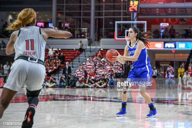 Kentucky Wildcats guard Maci Morris sets for the 3-pointer during the 2019 Div 1 Championship - Second Round college basketball game between the...