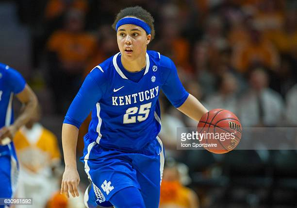Kentucky Wildcats guard Makayla Epps brings the ball up court during a game between the Tennessee Lady Volunteers and Kentucky Wildcats on January 1...