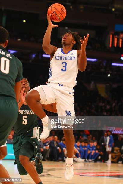Kentucky Wildcats guard Tyrese Maxey during the first half of the 2019 State Farm Champions Classic college basketball game between the Michigan...