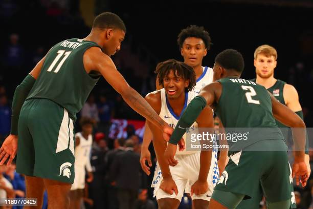 Kentucky Wildcats guard Tyrese Maxey during the second half of the 2019 State Farm Champions Classic college basketball game between the Michigan...