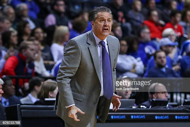 Kentucky Wildcats head coach John Calipari during the second half of the NCAA Men's basketball game between the Kentucky Wildcats and the Hofstra...