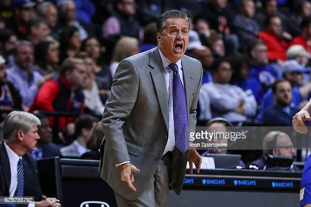 Kentucky Wildcats head coach John Calipari during the second half of the NCAA Men's basketball game between the Kentucky Wildcats and the Hofstra...