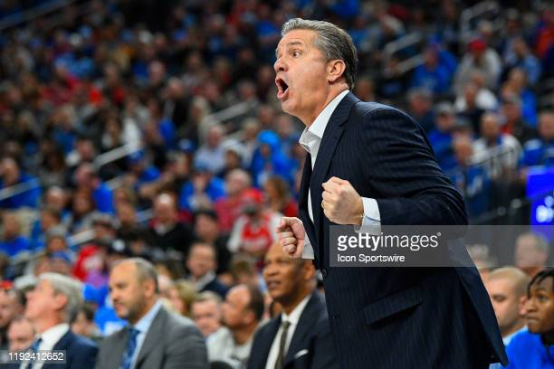 Kentucky Wildcats head coach John Calipari reacts to a call during the CBS Sports Classic between the Ohio State Buckeyes and the Kentucky Wildcats...