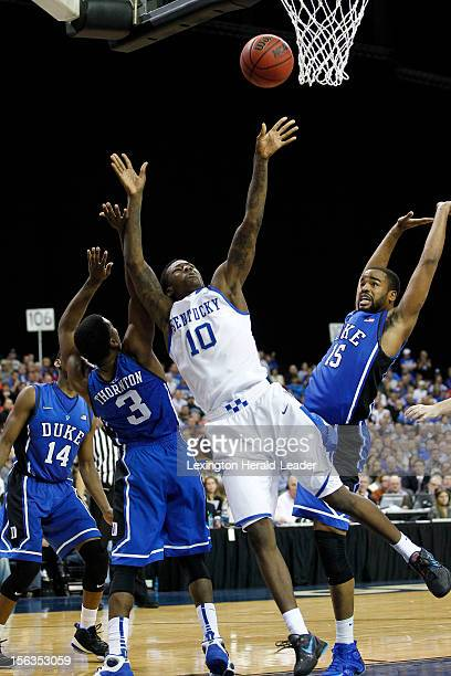 Kentucky's Archie Goodwin drives the lane late in a 75-68 loss against Duke in the State Farm Champions Classic on Tuesday, November 13 at the...