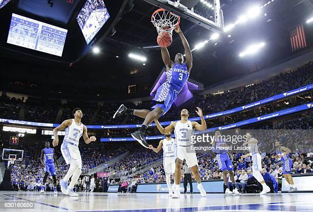 Kentucky's Bam Adebayo dunks against North Carolina on Saturday Dec 17 at TMobile Arena in Las Vegas Kentucky won 103100