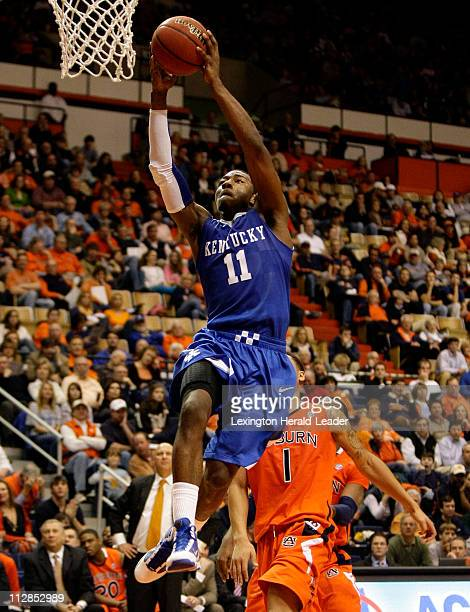 Kentucky's John Wall goes up for a dunk during the first half against Auburn at BeardEavesMemorial Coliseum in Auburn Alabama Saturday January 16...