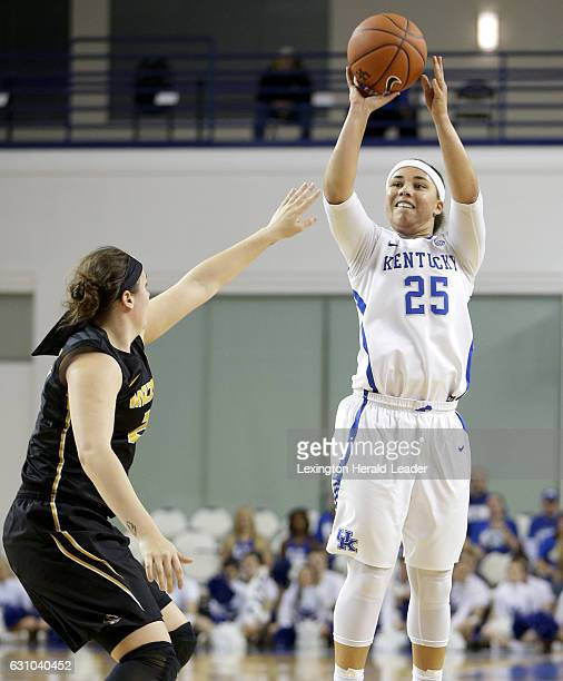 Kentucky's Makayla Epps beats the firstquarter buzzer with a 3pointer against Missouri on Thursday Jan 5 at Memorial Coliseum in Lexington Ky