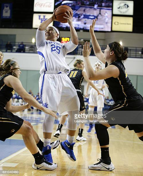Kentucky's Makayla Epps puts in a basket in traffic during the first half against Missouri on Thursday Jan 5 at Memorial Coliseum in Lexington Ky