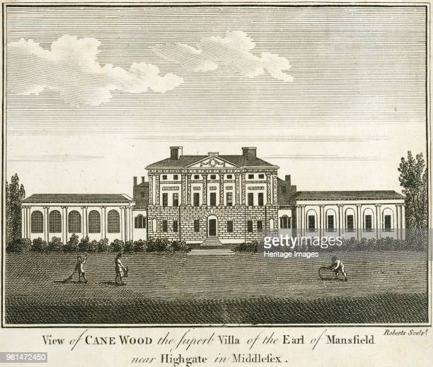 Kenwood House Hampstead London 1770 'View of Cane Wood the superb villa of the Earl of Mansfield near Highgate in Middlesex' View of the south or...