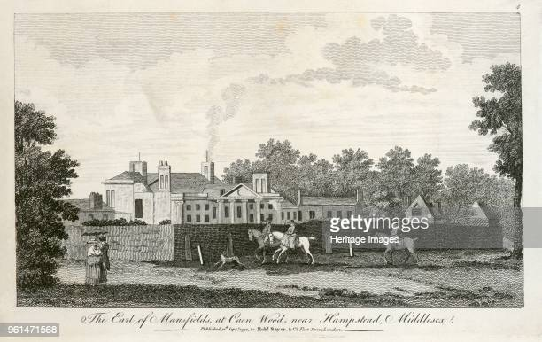Kenwood House Hampstead London 1792 'The Earl of Mansfield's at Caen Wood near Hampstead Middlesex' This view shows outbuildings on the north side of...