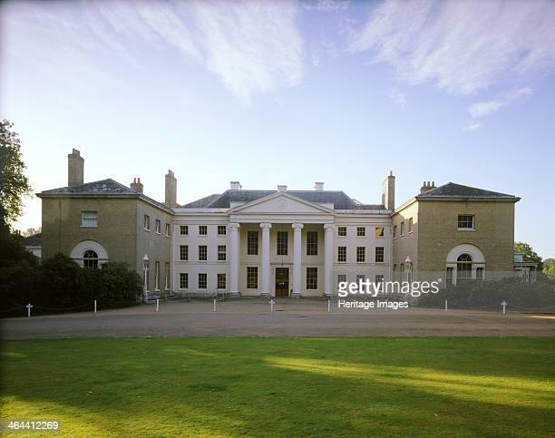 Kenwood House Hampstead London 1989 The north front of Kenwood House at the top of Hampstead Heath The central section has a columned portico with...