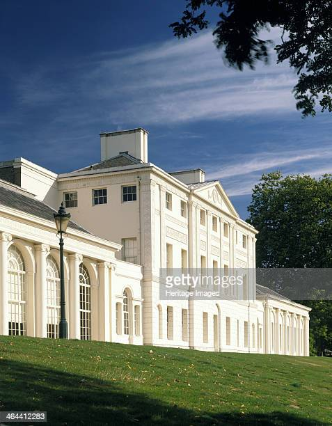 Kenwood House Hampstead London 1989 The white neoclassical facade of the south front of Kenwood House which stands at the top of Hampstead Heath Seen...