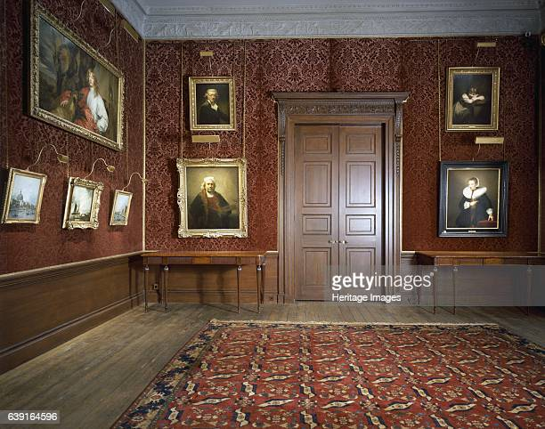 Kenwood House London c19902010 Interior view of the Dining Room with some of the paintings including the Rembrandt self portrait Former stately home...