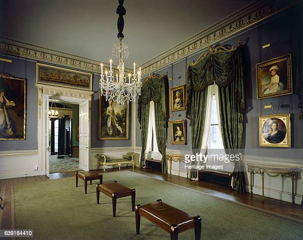 Kenwood House, London, c1990-2010. Interior view. View of the Music Room looking towards the Orangery. Chiswick House is a Palladian villa in...