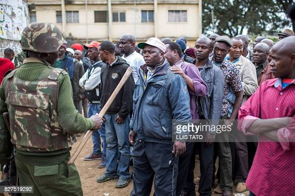 kenya heads to the polls voters braved long queues to vote