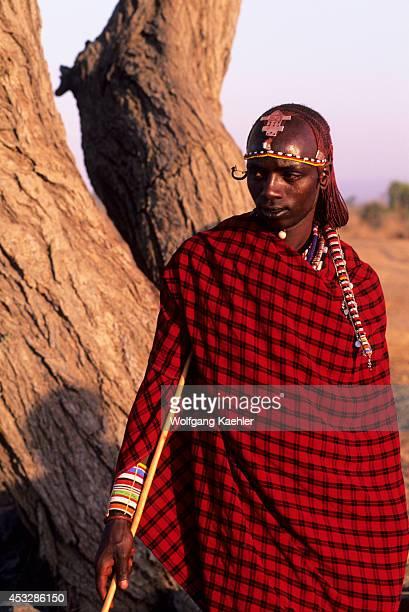 Kenya Amboseli Masai Man Portrait