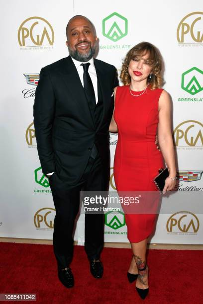 Kenya Barris and Dr Rainbow EdwardsBarris attend the 30th annual Producers Guild Awards at The Beverly Hilton Hotel on January 19 2019 in Beverly...