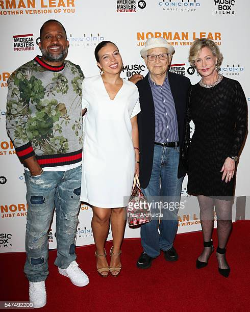 Kenya Barris Dr Rainbow EdwardsBarris Norman Lear and Lyn Lear attends the premiere of Norman Lear Just Another Version Of You at The WGA Theater on...