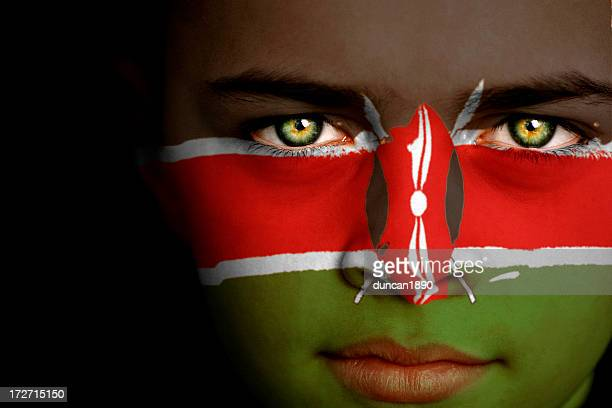 kenya boy - kenyan flag stock pictures, royalty-free photos & images