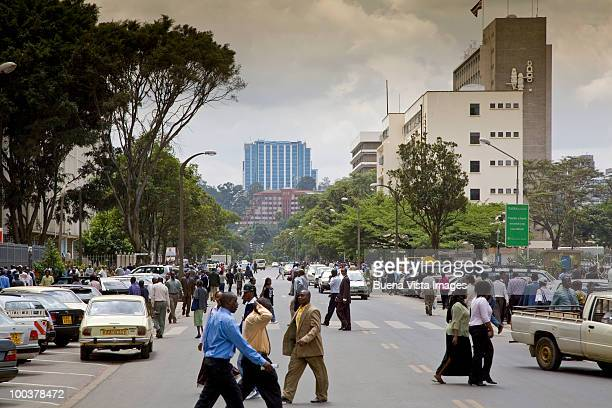 kenya, downtown nairobi. - nairobi stock pictures, royalty-free photos & images