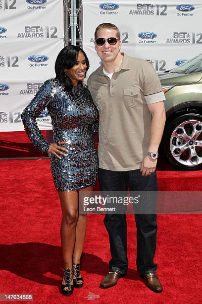 Kenya Duke Owen and Gary Owen arrives at the 2012 BET Awards Red Carpet at The Shrine Auditorium on July 1 2012 in Los Angeles California