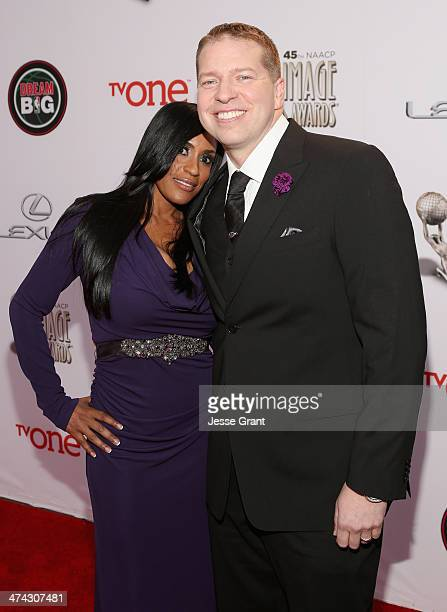 Kenya Duke Owen and Gary Owen attend the 45th NAACP Image Awards presented by TV One at Pasadena Civic Auditorium on February 22 2014 in Pasadena...