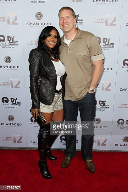 Kenya Duke Owen and husband Gary Owen attend the BET Awards After Party at Lure on July 1 2012 in Hollywood California