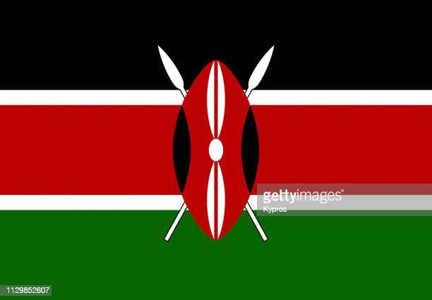 kenya flag - kenya stock pictures, royalty-free photos & images