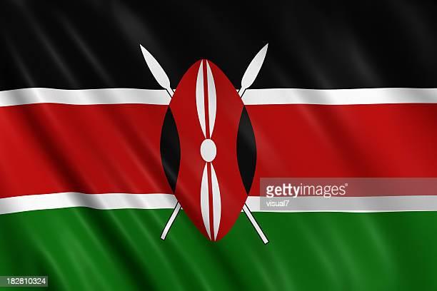 kenya flag - kenyan flag stock pictures, royalty-free photos & images