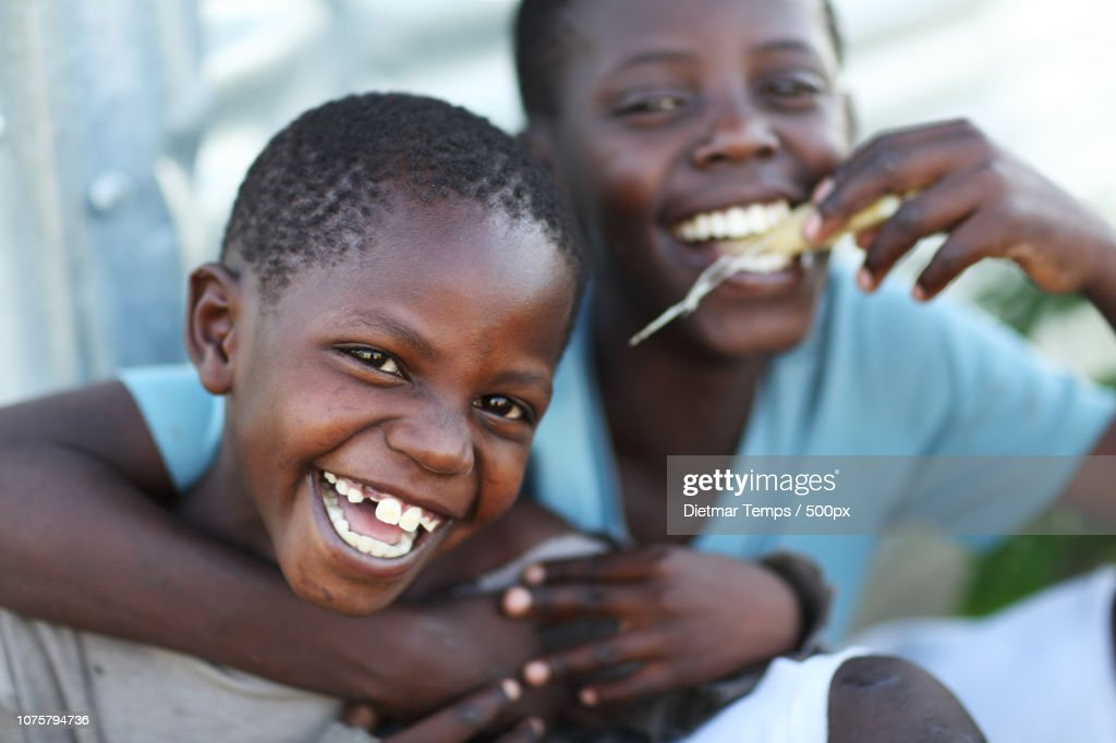 Kenya, happy boys : Stock-Foto