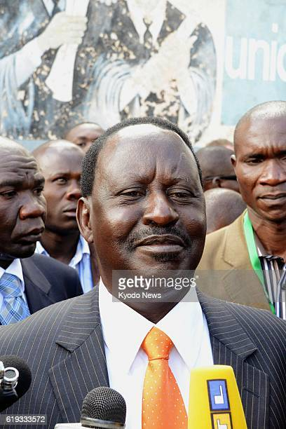 NAIROBI Kenya Kenyan Prime Minister Raila Odinga answers reporters' questions in Nairobi on March 4 after voting in a presidential election in which...