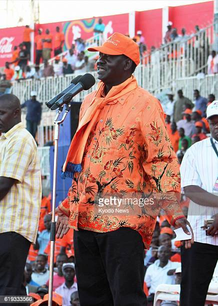NAIROBI Kenya Kenyan Prime Minister Raila Odinga makes a speech in Nairobi on March 2 for the March 4 presidential election in which he ran