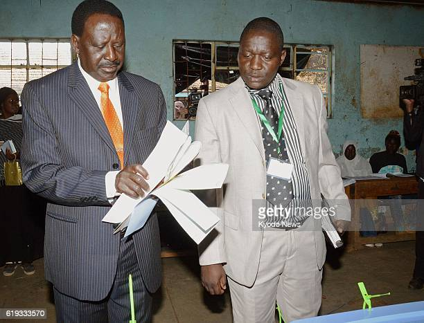 NAIROBI Kenya Kenyan Prime Minister Raila Odinga votes in a presidential election in which he ran in Nairobi on March 4 2013