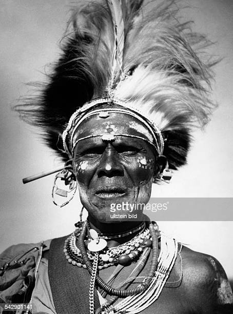Kikuyu chief from Kenya in festive clothing undated