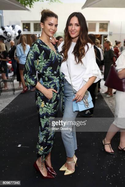 Kenya KinskiJones and Johanna Klum attend the 'Designer for Tomorrow' after show reception during the MercedesBenz Fashion Week Berlin Spring/Summer...