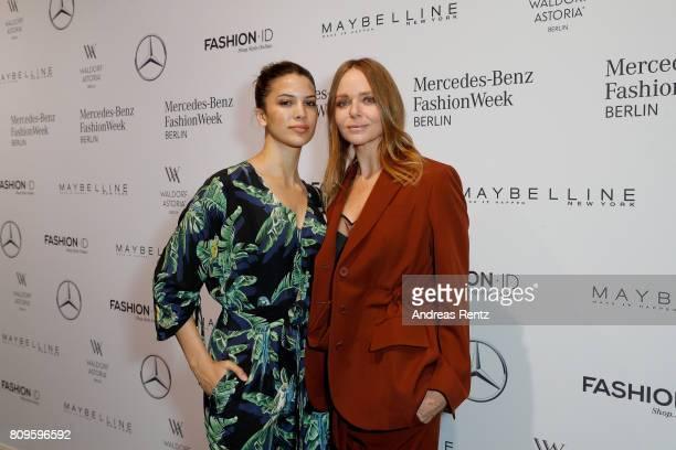 Kenya KinskiJones and Stella McCartney attend the 'Designer for Tomorrow' show during the MercedesBenz Fashion Week Berlin Spring/Summer 2018 at...