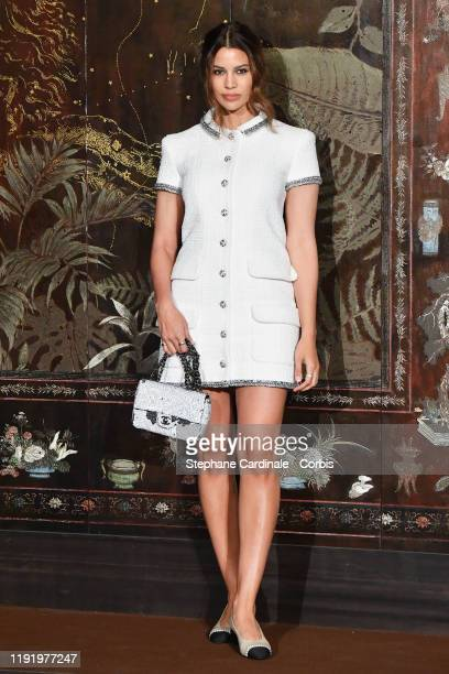 Kenya KinskiJones attends the photocall of the Chanel Metiers d'art 20192020 show at Le Grand Palais on December 04 2019 in Paris France