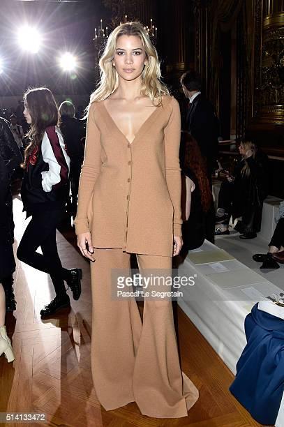 Kenya KinskiJones attends the Stella McCartney show as part of the Paris Fashion Week Womenswear Fall/Winter 2016/2017 on March 7 2016 in Paris France