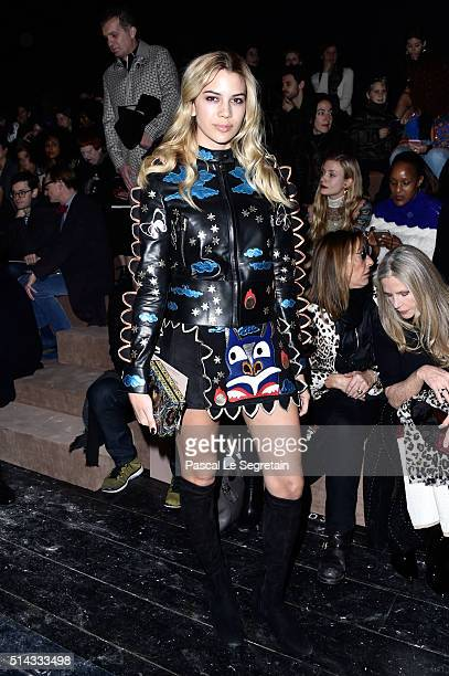 Kenya KinskiJones attends the Valentino show as part of the Paris Fashion Week Womenswear Fall/Winter 2016/2017 on March 8 2016 in Paris France