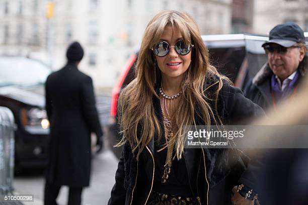 Kenya KinskiJones is seen at Tommy Hilfiger during New York Fashion Week Women's Fall/Winter 2016 on February 15 2016 in New York City