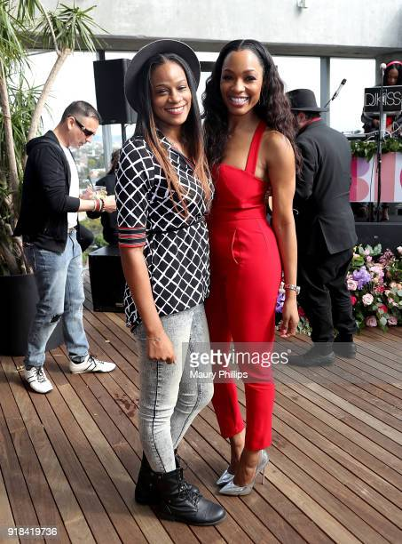 Kenya Marche and Cari Champion attend LOVE FEST women's networking event at The Jeremy Hotel on February 14 2018 in Los Angeles California