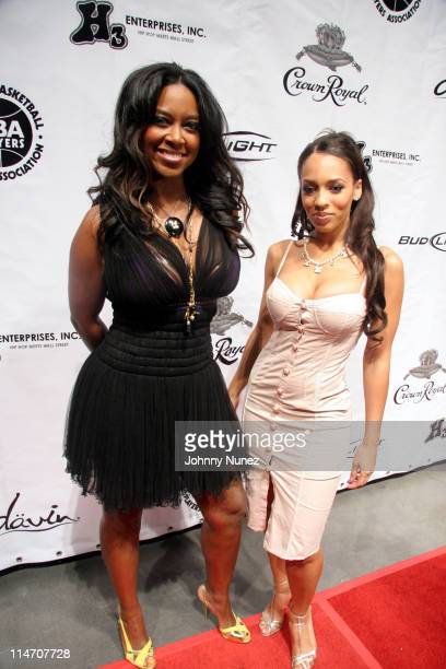 Kenya Moore and Melyssa Ford during NBA Players Association Gala February 18 2006 at Houston Convention Center in Houston Texas United States