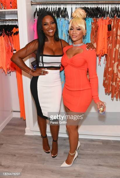 Kenya Moore and Saweetie attend Saweetie x Matte Collection Launch at Matte Collection Store Phipps Plaza on June 19, 2021 in Atlanta, Georgia.