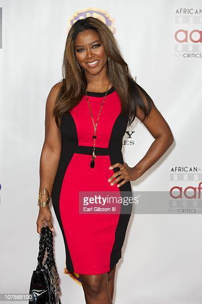 Kenya Moore appears on the red carpet for the 2nd Annual AAFCA Awards on December 13 2010 in Los Angeles California