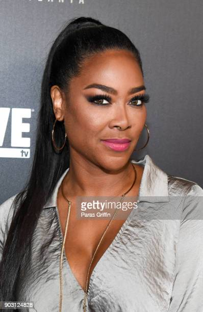 Kenya Moore attends Growing Up Hip Hop Atlanta season 2 premiere party at Woodruff Arts Center on January 9 2018 in Atlanta Georgia